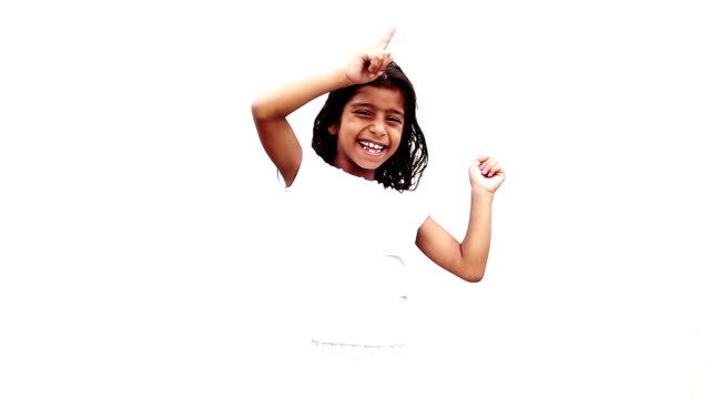 little girl dancing - indian ethnicity stock videos & royalty-free footage