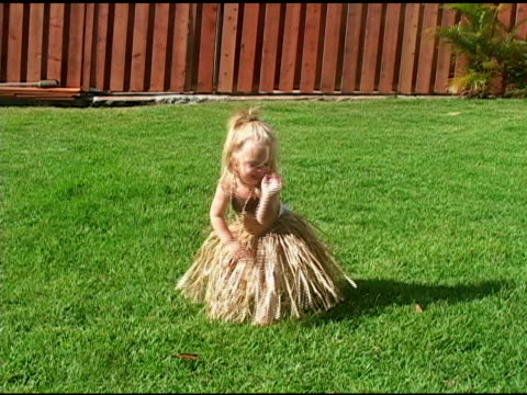 little girl does the hula - toddler stock videos & royalty-free footage