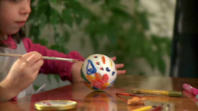HD: Little Girl Doing Art