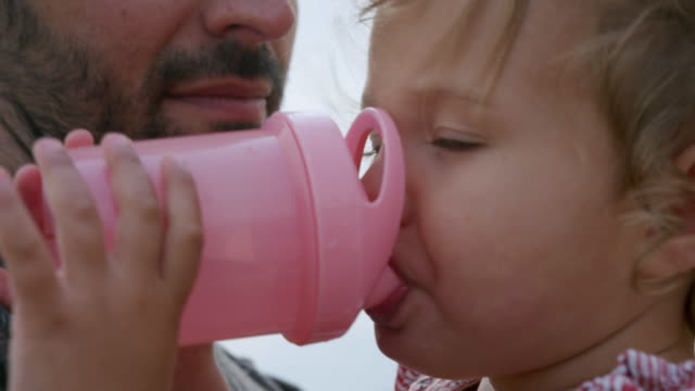 little girl drinking - sussex stock videos and b-roll footage
