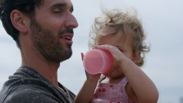 little girl drinking - 12 17 months stock videos & royalty-free footage