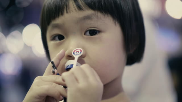 little girl eating - nausea stock videos & royalty-free footage