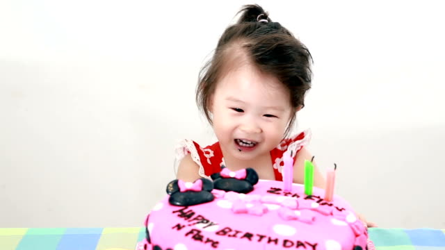 Little Girl Eating Yummy cake.