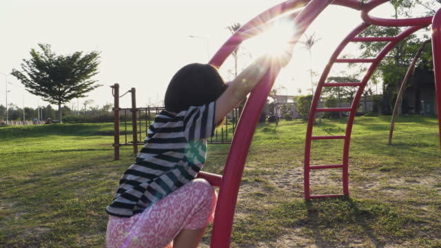 Little Girl Enjoyment At The Playground