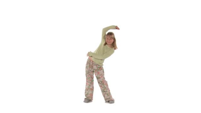 vídeos de stock e filmes b-roll de hd: rapariga exercício - só uma rapariga