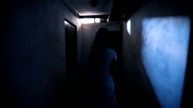 little girl ghost in basement - ethereal stock videos & royalty-free footage