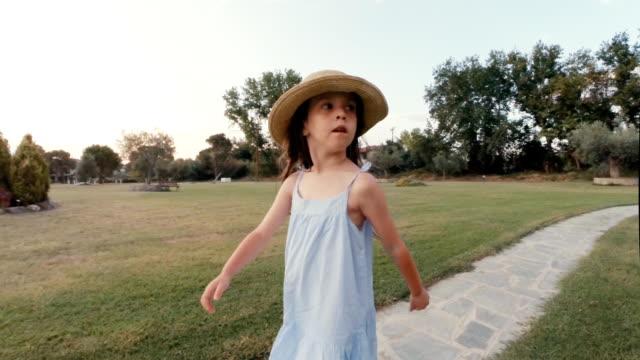 Little Girl Having Fun At a Summer Holiday Resort.