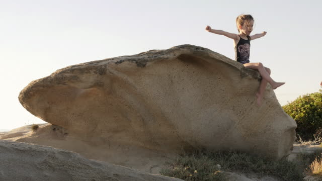 Little Girl Having Fun At The Beach.