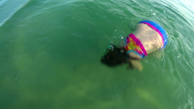 little girl in the sea - swimwear stock videos & royalty-free footage