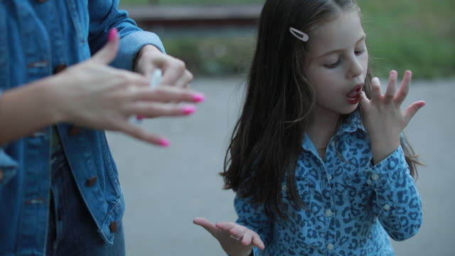 little girl licking her fingers - sticky stock videos & royalty-free footage