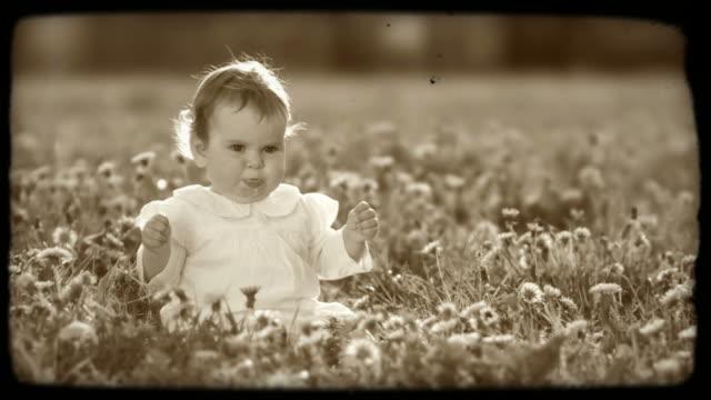 HD SLOW-MOTION: Little Girl On A Meadow