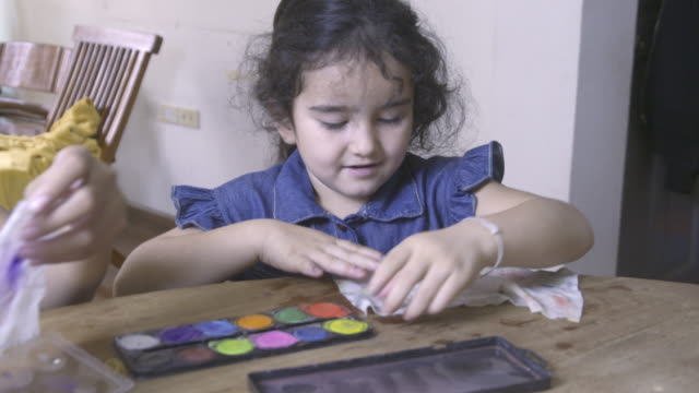 little girl paints nails - self improvement stock videos & royalty-free footage