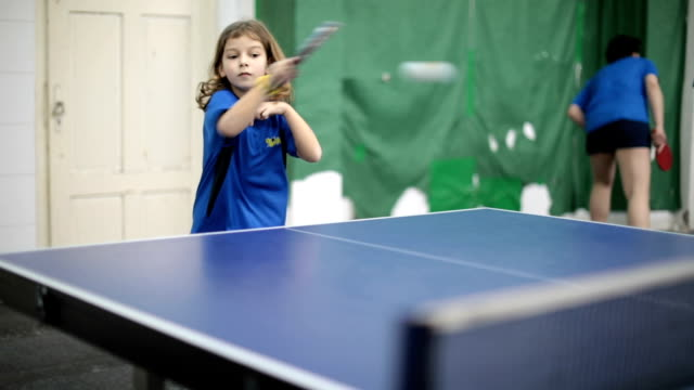 little girl playing table tennis - table tennis stock videos & royalty-free footage