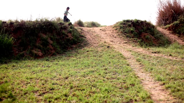 little girl running on country road - lebanon country stock videos & royalty-free footage