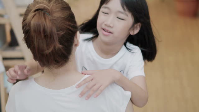 little girl running to hug her mother. slow motion.4k - petite teen girl stock videos and b-roll footage
