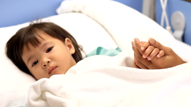 little girl sick in the hospital