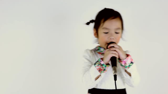 little girl singing. - baby girls stock videos & royalty-free footage