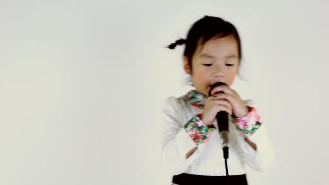 little girl singing. - singing stock videos & royalty-free footage