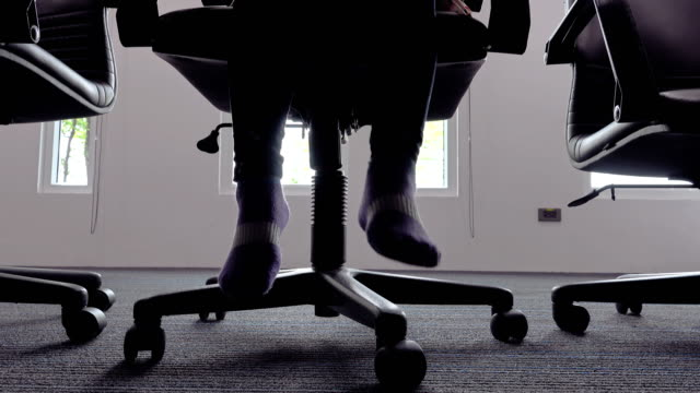 little girl sitting on office chair - chair stock videos & royalty-free footage