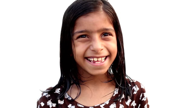little girl smiling portrait - children only stock videos and b-roll footage