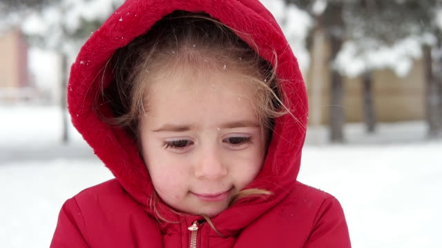 little girl - cold temperature stock videos & royalty-free footage