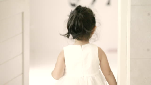 little girl walking at new home - behind stock videos & royalty-free footage