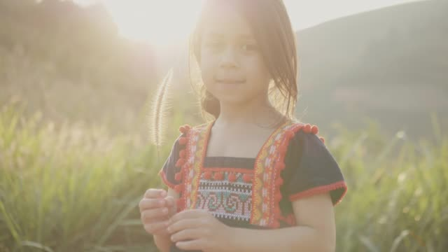 little girl walking over the hill - indigenous culture stock videos & royalty-free footage