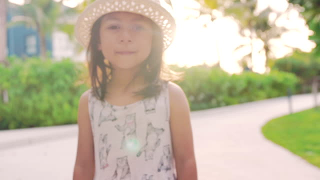 a little girl walking - cap stock videos & royalty-free footage