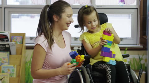 little girl with cerebral palsy - disability stock videos & royalty-free footage