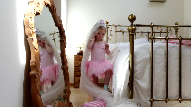 little girls dressing up - princess stock videos & royalty-free footage