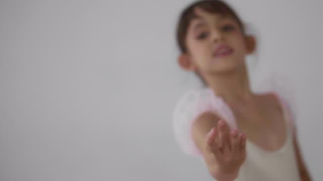 little girls in ballet class - leotard stock videos & royalty-free footage