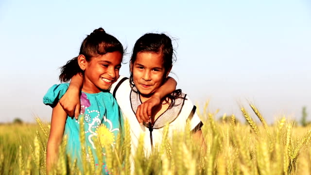 little girls laughing - indian ethnicity stock videos & royalty-free footage