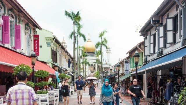 vidéos et rushes de 4k tl: little india dans la ville de singapour. - touriste