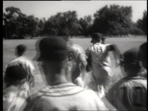 b/w little league baseball team running onto field / sacramento / sound - youth baseball and softball league stock videos and b-roll footage