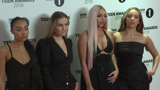 little mix at wembley arena on october 21, 2018 in london, england. - wembley arena stock videos & royalty-free footage