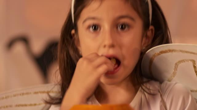 HD: Little Princess Eating Halloween Candy
