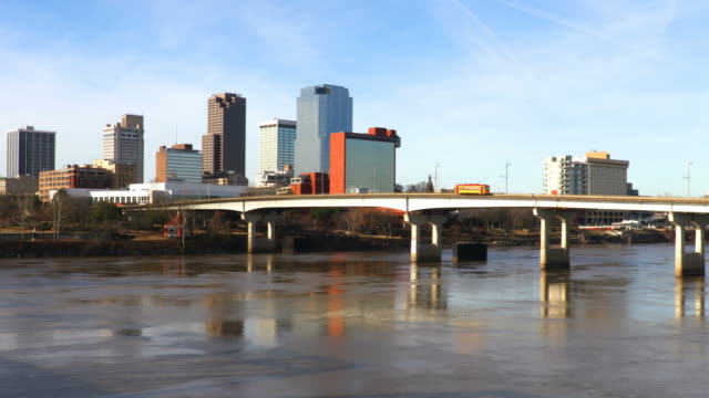 little rock, arkansas along the arkansas river - georgia us state stock videos & royalty-free footage