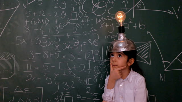 little scientist - blackboard stock videos and b-roll footage