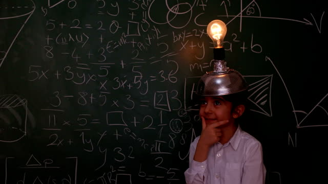little scientist - school science project stock videos & royalty-free footage