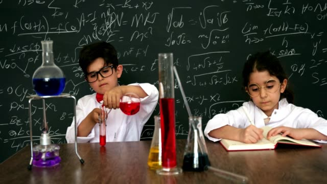 little scientist - chemistry stock videos & royalty-free footage
