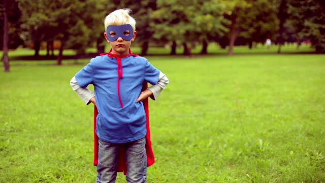 little superman wins and falls. - formal stock videos and b-roll footage