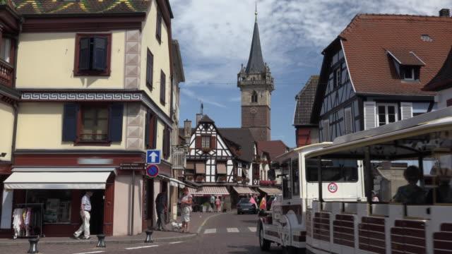 little tourist train at tour de la chapelle - tourist train stock videos and b-roll footage