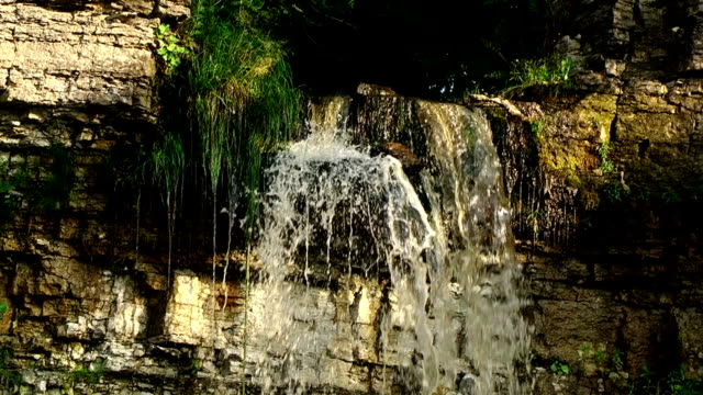 little waterfall in slow motion