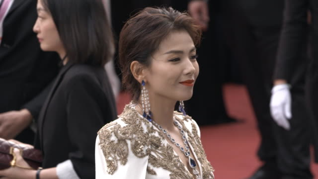 slomo liu tao at 'the dead don't die' red carpet arrivals opening ceremony the 72nd cannes film festival on may 14 2019 in cannes france - the dead don't die 2019 film stock videos and b-roll footage