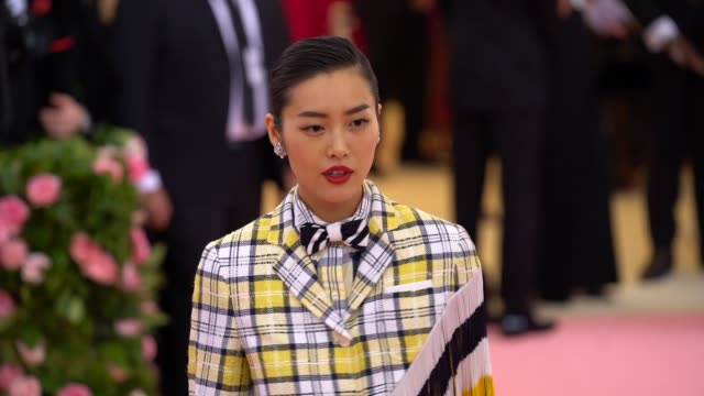 Liu Wen at The 2019 Met Gala Celebrating Camp Notes on Fashion Arrivals at Metropolitan Museum of Art on May 06 2019 in New York City