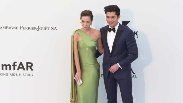 Liv Lo Golding and Henry Golding at the amfAR Cannes Gala 2019 Arrivals at Hotel du CapEdenRoc on May 23 2019 in Cap d'Antibes France