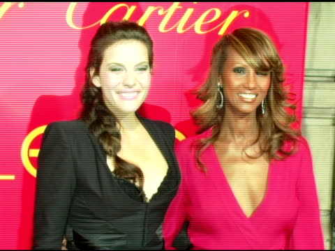 Liv Tyler and Iman at the Cartier and Interview Magazine Celebration of Love at the Cartier Mansion in New York New York on June 8 2006