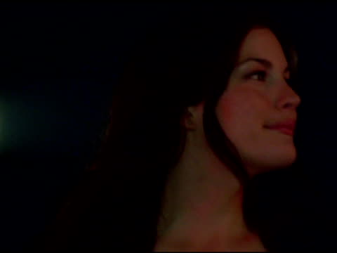 liv tyler at the arckid at hugo boss private concert series at hugo boss roof deck in new york, new york on august 2, 2006. - hugo boss stock videos & royalty-free footage