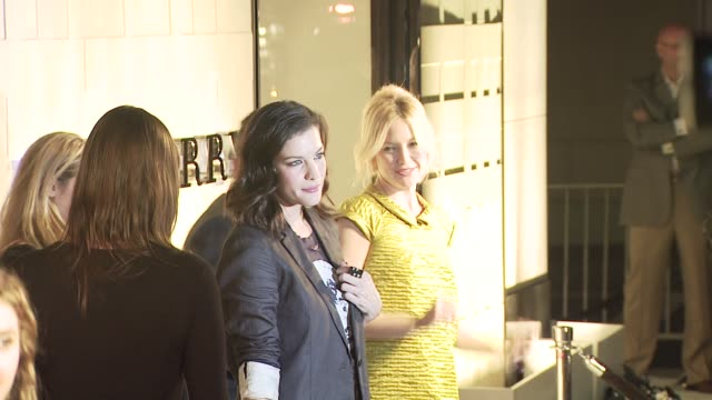 liv tyler kate hudson at the burberry beverly hills store reopening at los angeles ca - kate hudson stock videos & royalty-free footage