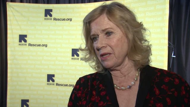 interview liv ullmann on her work with irc on the refugee situation in the usa at international rescue committee 2017 'rescue dinner' at hilton hotel... - liv ullmann stock videos and b-roll footage